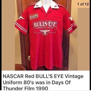 NASCAR Bullseye red vintage 80's pit crew uniform